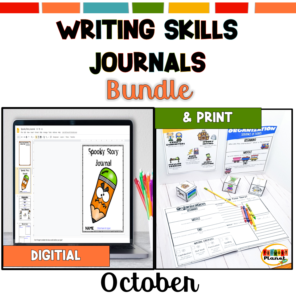 Image of digital and print writing skills journals