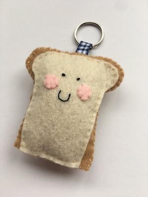 Bread Slice Keychain