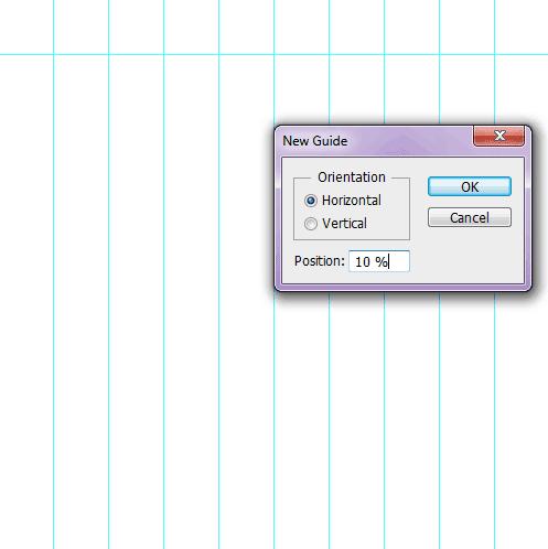 Create horizontal guides.