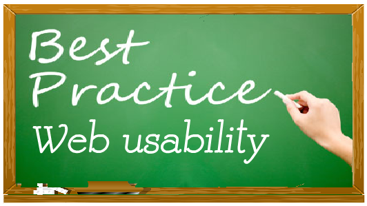 best practice web usability