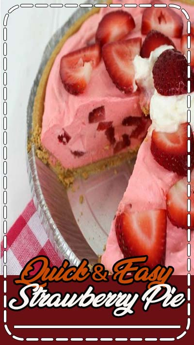 Since warm weather has arrived you may be needing this Quick & Easy Strawberry Pie Recipe. We are constantly looking for quick and easy desserts to throw together for grill outs. Spring and summer