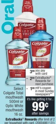 FREE Colgate Total Mouthwash CVS Deal