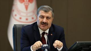 وزير الصحة يعلن عن عدد الإصابات والوفيات الجديد بفايروس كورونا في تركيا