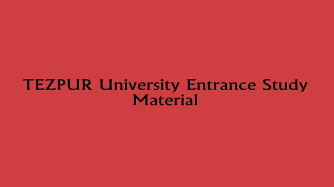 Tezpur University English Entrance Question Paper