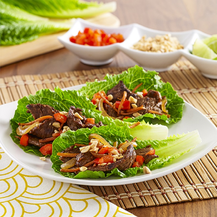 Steak Lettuce Wraps Recipe