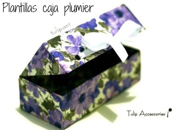 plantilla caja plumier, caja porta lápices, caja plumier para regalos