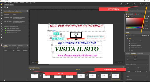 creare banner con web designer