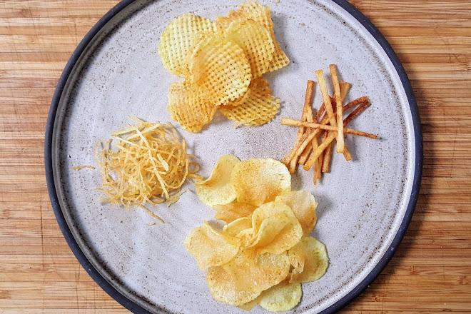 Chips, Pommes Gaufrette, Cheveux, Paille : friture en une seule cuisson