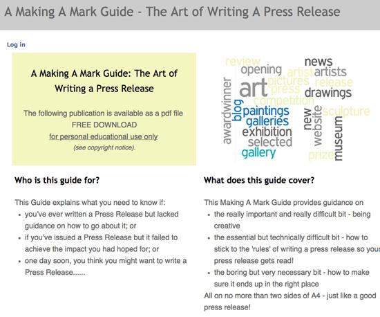 art press release generator