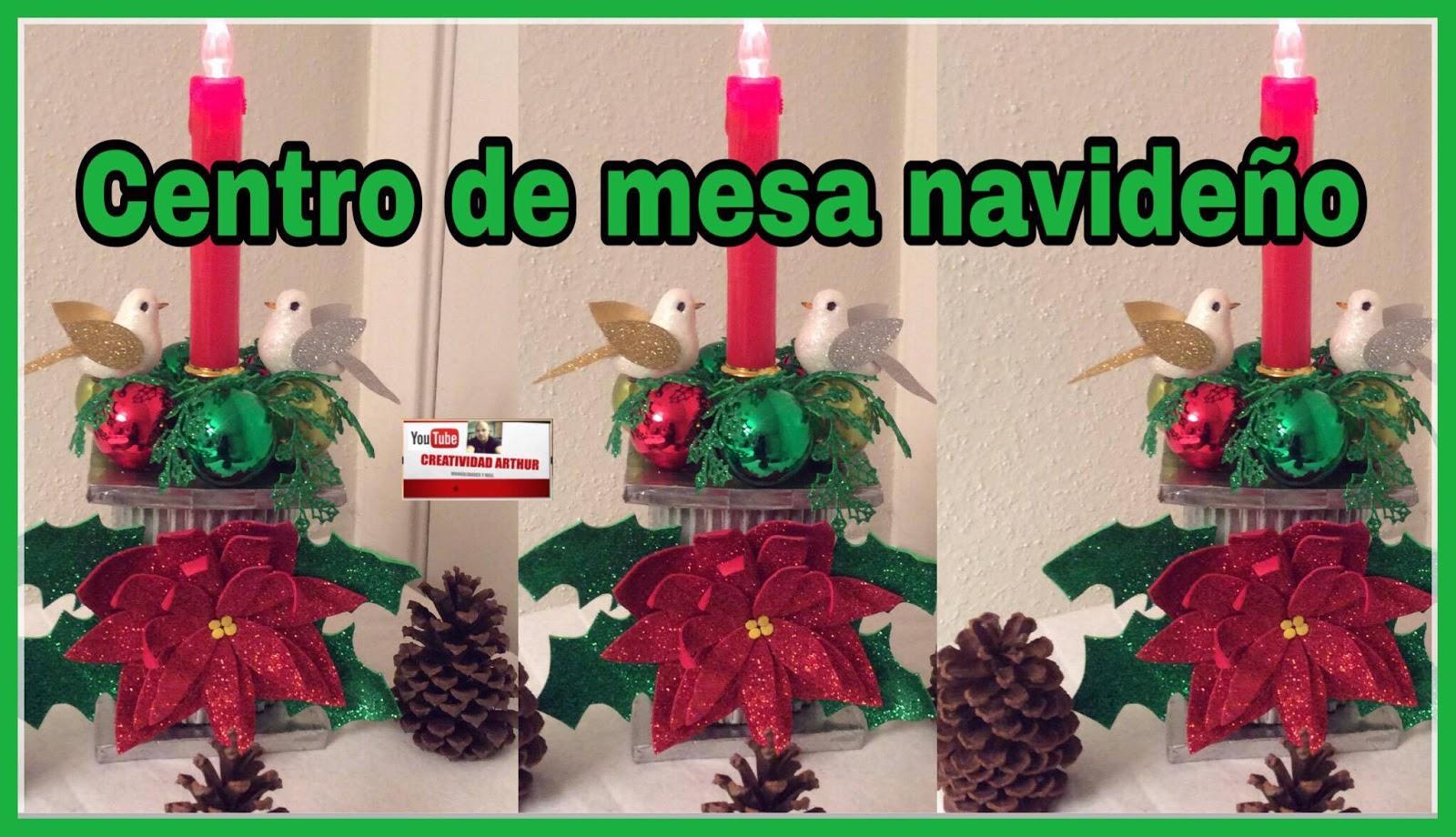 Realizando Manualidades Centro De Mesa Para Navidad - Manualidades-centros-de-navidad