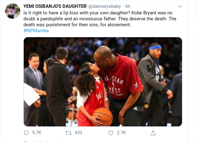 mamba%2Bsc - Nigerian UK-based Doctor Has Alleged That Kobe Bryant Had Incestuous Affair With His 13-year-old Daughter, Gianni