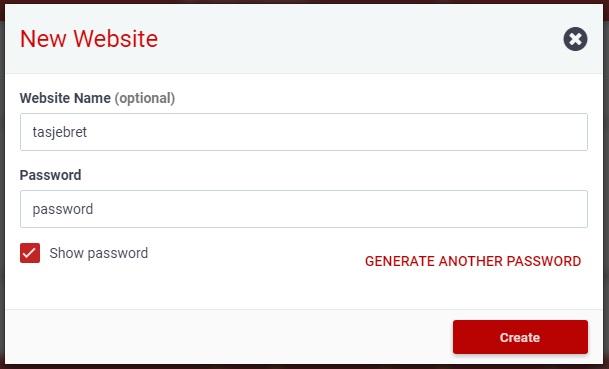 create new website 000webhost