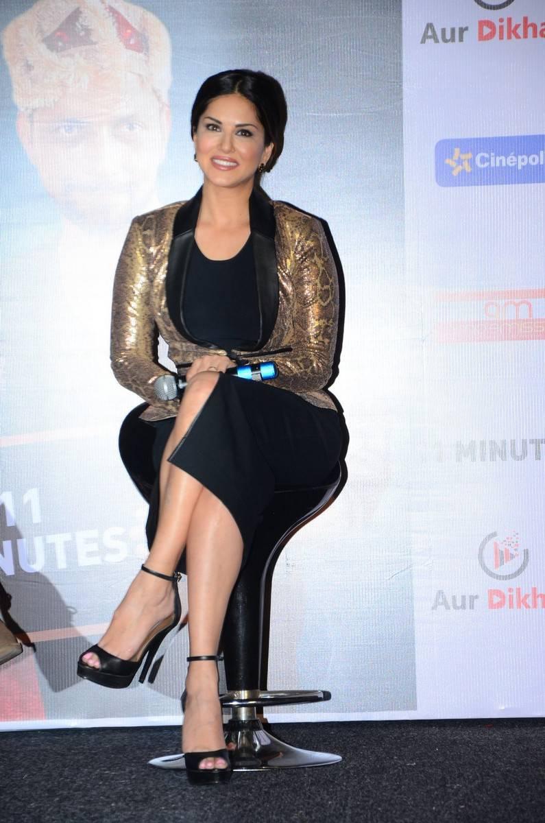Sunny Leone Stills In Black Dress