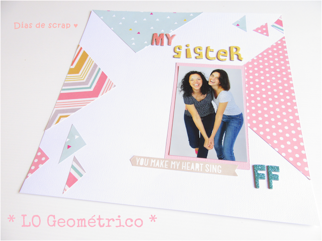 LO layout scrap scrapbooking geometrico