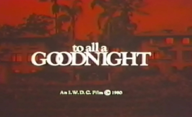 To All A Goodnight (1980)