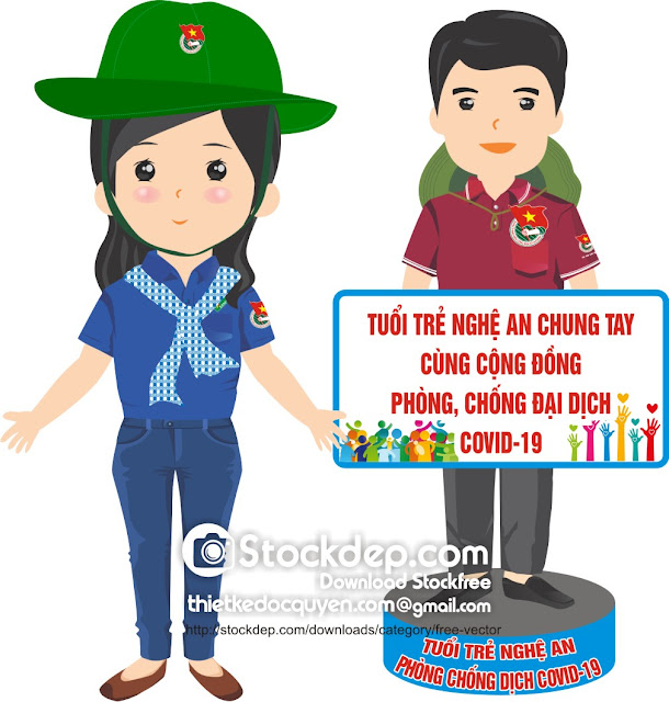 vector Phòng chống dịch COVID-19