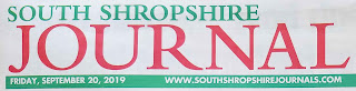 Header image from the South Shropshire Journal Newspaper