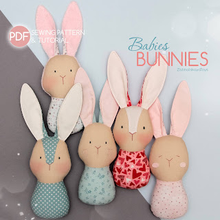 baby bunny sewing pattern and DIY tutorial