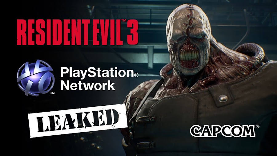 resident evil 3 remake playstation network leaked caocom survival horror classic raccoon city ps4