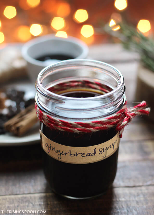 Gingerbread Syrup (For Coffee, Cocktails, Pancakes & Waffles)