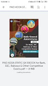 PAID ADDA STATIC GK EBOOK Review