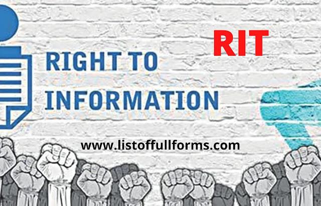RTI full form