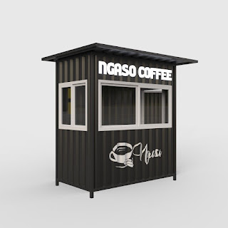 booth container minimalis
