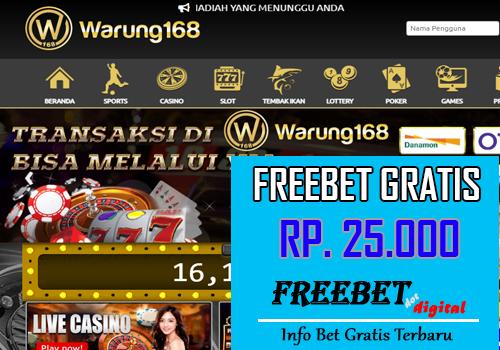 FREEBET GRATIS TANPA DEPOSIT – WARUNG168