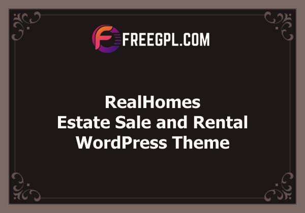 RealHomes - Estate Sale and Rental WordPress Theme Nulled Download Free