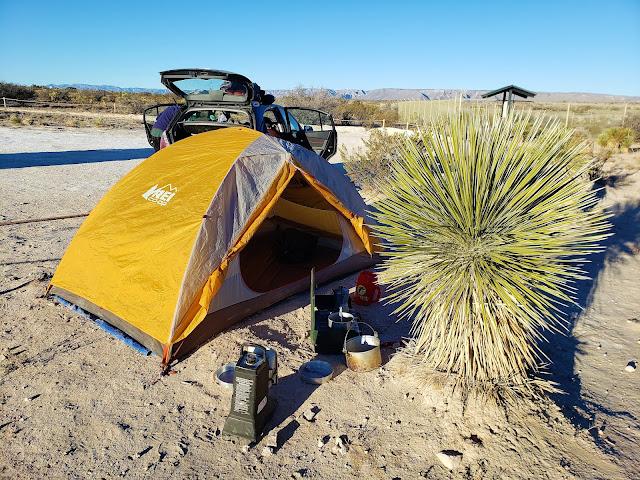 primitive campsite carlsbad caverns national park new mexico