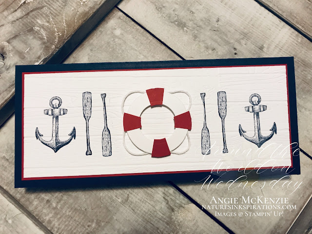 By Angie McKenzie for Around the World on Wednesday Blog Hop; Click READ or VISIT to go to my blog for details! Featuring the Sail Away, By the Dock and A Good Man Stamp Sets from the 2020-2021 Annual Catalog; #stampinup #createyourownbackgrounds #smoothsailingdies #sailinghomestampset #bythedockstampset #agoodmanstampset #naturesinkspirations #coloringwithblends #handmadecards #20202021annualcatalog #stampinupinks #cardtechniques #stampingtechniques #awowbloghop #aroundtheworldonwednesdaybloghop #birthdaycards #giftcardholders #funfolds