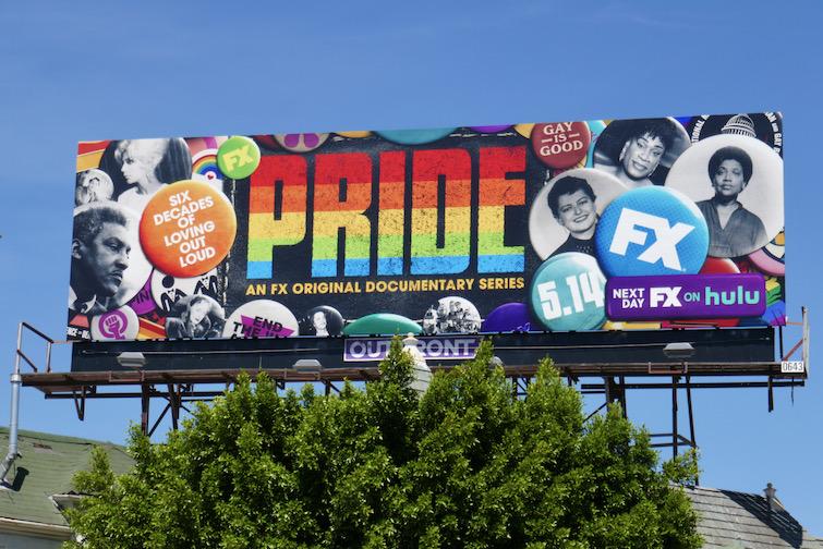 Pride documentary series billboard