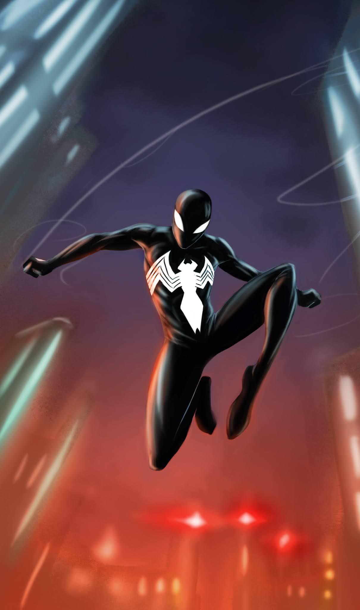 symbiote spiderman mobile wallpaper