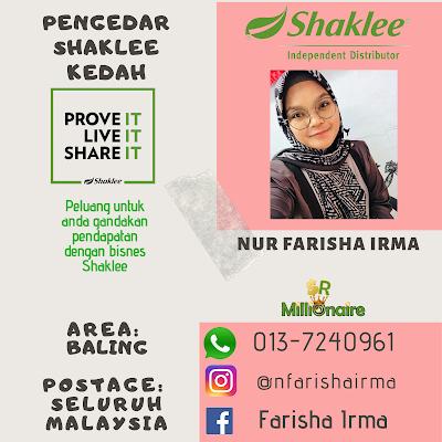 Pengedar Shaklee Baling Kedah 0137240961