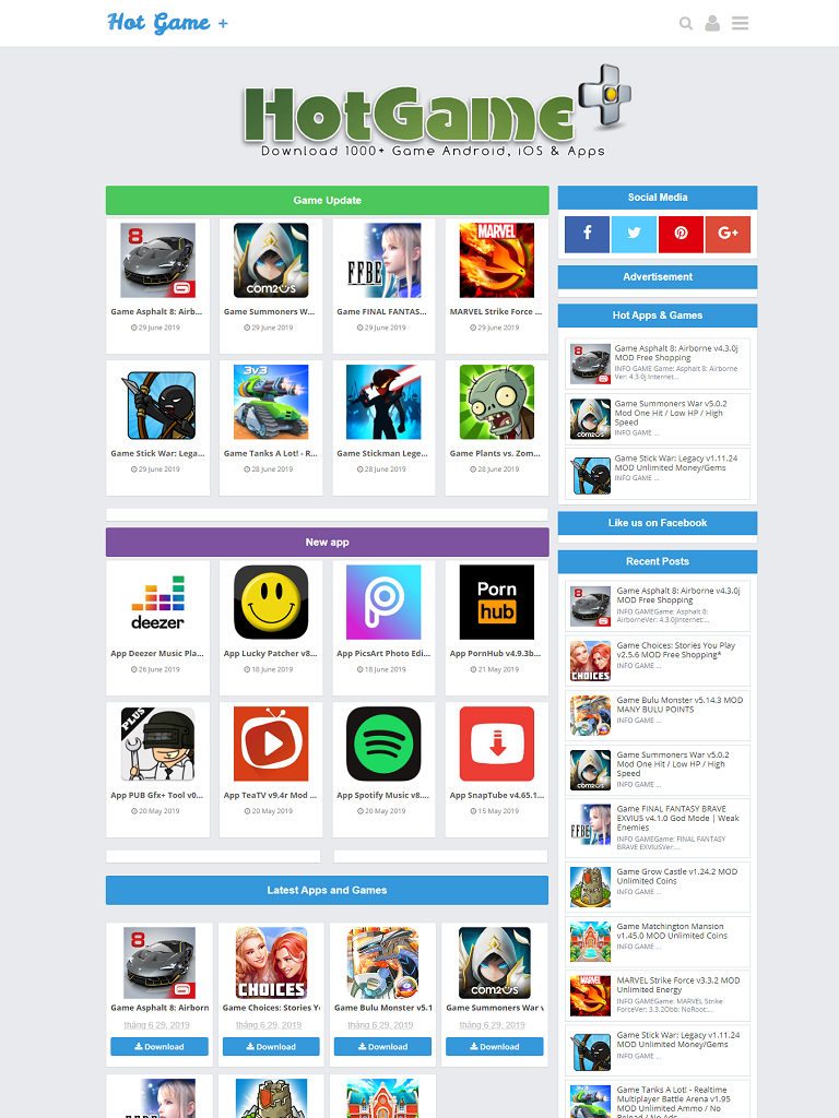 Template Blogspot ứng dụng Blue APK  - Ảnh 1