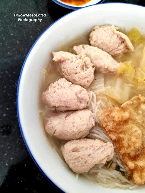 Fish Paste Noodles In Clear Soup