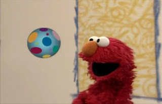 Elmo and the kids count the bounces as the CGI ball bounces around the corners of the screen. The ball bounces 28 times. Elmo's World Balls Elmo's Question