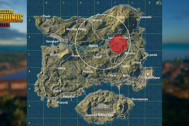 خريطة Erangel في PUBG موبايل