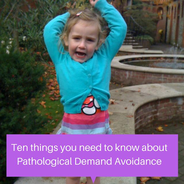 Sasha as toddler ten things Pathological Demand Avoidance