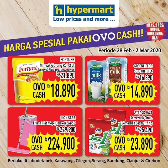 #Hypermart - #Promo Harga Spesial Pakai OVO Periode 28 Feb - 02 Mar 2020