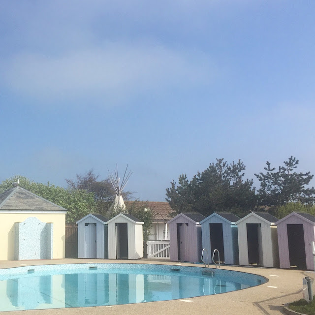 Beach huts at Berwick caravan park
