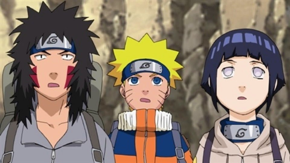 Kiba, Naruto, Hinata