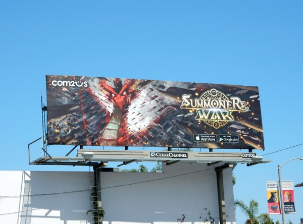 Summoners War dragon 2015 billboard