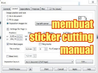 membuat cutting sticker manual