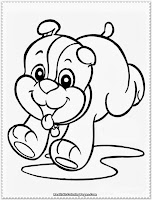 christmas puppy coloring pages to print