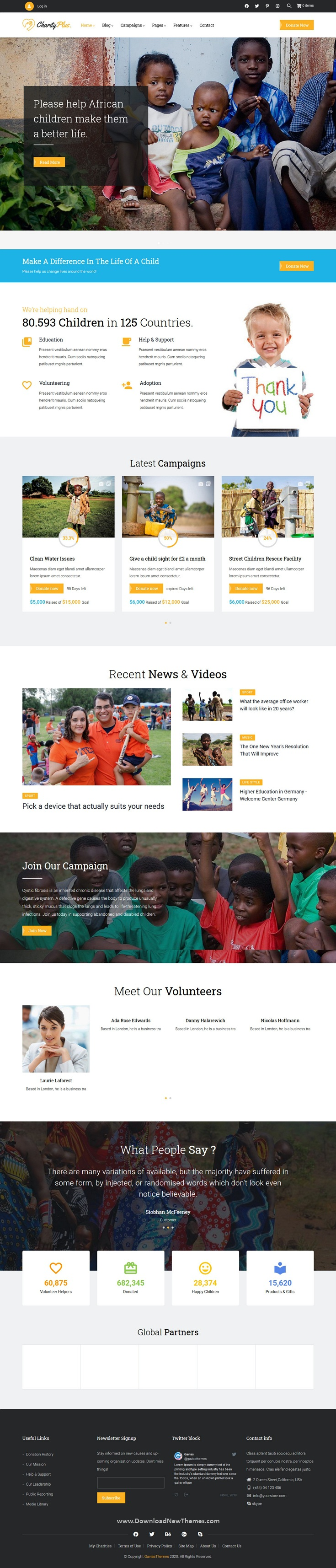 Multipurpose Nonprofit Charity Drupal Theme