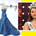 Catriona Gray Shines on Her Blue Sparkled  Dress, a Philippine Eagle Inspired Gown