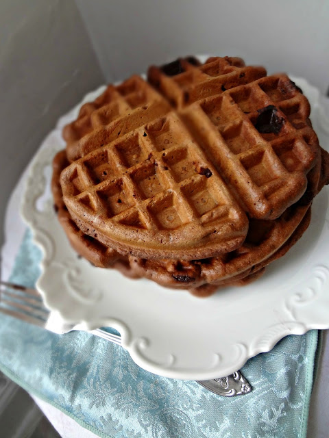 Whole Wheat Double Chocolate Chip Waffles