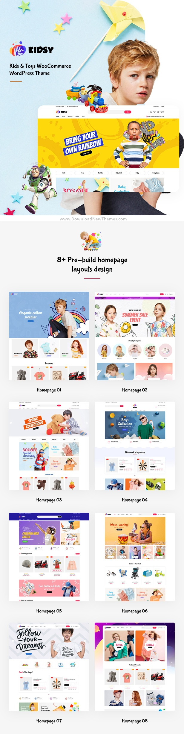 Kids Store and Baby Shop WooCommerce Theme