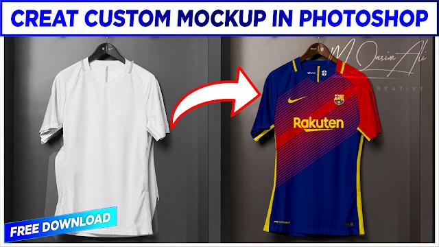 How to Creat Custom Mockup in Photoshop + Free Mockup PSD by M Qasim Ali